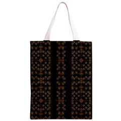 Dark Arabic Stripes Classic Light Tote Bag