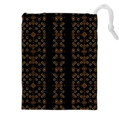 Dark Arabic Stripes Drawstring Pouches (xxl)