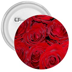 Red Roses Love 3  Buttons