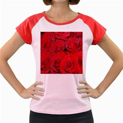 Red Roses Love Women s Cap Sleeve T-Shirt