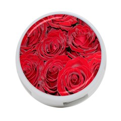 Red Roses Love 4-Port USB Hub (One Side)