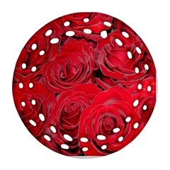 Red Roses Love Ornament (Round Filigree)