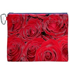 Red Roses Love Canvas Cosmetic Bag (XXXL)