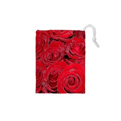 Red Roses Love Drawstring Pouches (XS)
