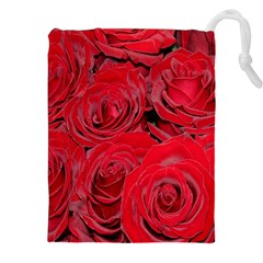 Red Roses Love Drawstring Pouches (xxl)