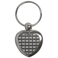 Black White Gray Crosses Key Chains (Heart)