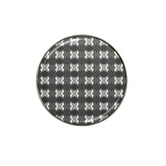 Black White Gray Crosses Hat Clip Ball Marker (10 pack)