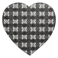 Black White Gray Crosses Jigsaw Puzzle (Heart)