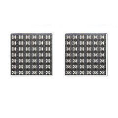 Black White Gray Crosses Cufflinks (Square)