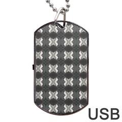 Black White Gray Crosses Dog Tag Usb Flash (two Sides)