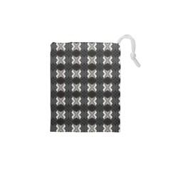Black White Gray Crosses Drawstring Pouches (xs)