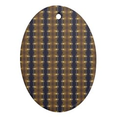 Black Brown Gold Stripes Ornament (Oval)