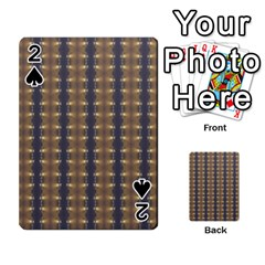 Black Brown Gold Stripes Playing Cards 54 Designs