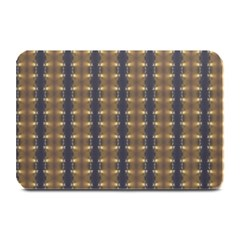 Black Brown Gold Stripes Plate Mats
