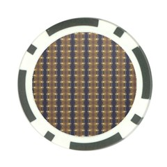 Black Brown Gold Stripes Poker Chip Card Guards (10 pack)