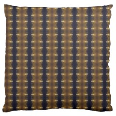 Black Brown Gold Stripes Large Cushion Case (Two Sides)