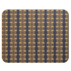 Black Brown Gold Stripes Double Sided Flano Blanket (medium)
