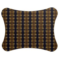 Black Brown Gold Stripes Jigsaw Puzzle Photo Stand (bow)
