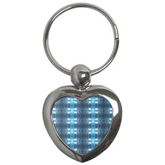 Blue Diamonds Of The Sea 1 Key Chains (Heart)