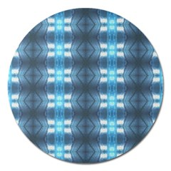 Blue Diamonds Of The Sea 1 Magnet 5  (Round)