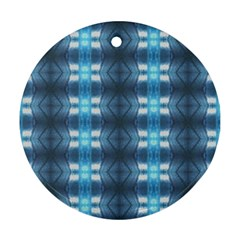 Blue Diamonds Of The Sea 1 Round Ornament (Two Sides)