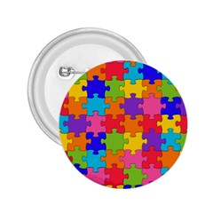 Funny Colorful Jigsaw Puzzle 2 25  Buttons
