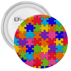 Funny Colorful Jigsaw Puzzle 3  Buttons