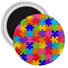 Funny Colorful Jigsaw Puzzle 3  Magnets