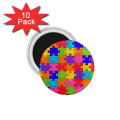 Funny Colorful Jigsaw Puzzle 1 75  Magnets (10 Pack)