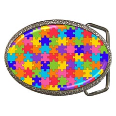 Funny Colorful Jigsaw Puzzle Belt Buckles
