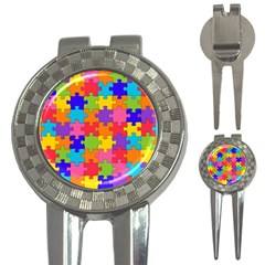 Funny Colorful Jigsaw Puzzle 3-in-1 Golf Divots