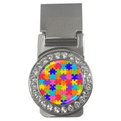 Funny Colorful Jigsaw Puzzle Money Clips (cz)