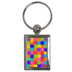 Funny Colorful Jigsaw Puzzle Key Chains (rectangle)