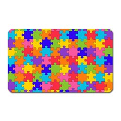 Funny Colorful Jigsaw Puzzle Magnet (rectangular)