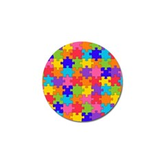 Funny Colorful Jigsaw Puzzle Golf Ball Marker
