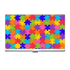 Funny Colorful Jigsaw Puzzle Business Card Holders