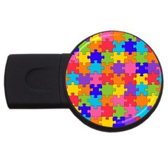 Funny Colorful Jigsaw Puzzle Usb Flash Drive Round (2 Gb)