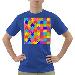 Funny Colorful Jigsaw Puzzle Dark T Shirt