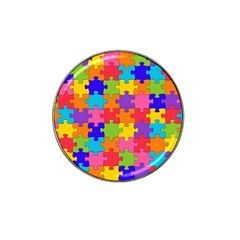 Funny Colorful Jigsaw Puzzle Hat Clip Ball Marker (4 Pack)