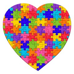 Funny Colorful Jigsaw Puzzle Jigsaw Puzzle (heart)