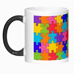 Funny Colorful Jigsaw Puzzle Morph Mugs