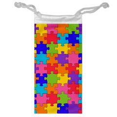 Funny Colorful Jigsaw Puzzle Jewelry Bags
