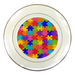 Funny Colorful Jigsaw Puzzle Porcelain Plates