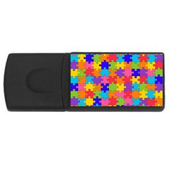 Funny Colorful Jigsaw Puzzle Usb Flash Drive Rectangular (4 Gb)