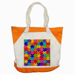 Funny Colorful Jigsaw Puzzle Accent Tote Bag