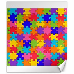 Funny Colorful Jigsaw Puzzle Canvas 8  x 10