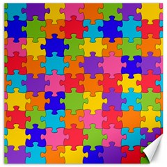 Funny Colorful Jigsaw Puzzle Canvas 12  X 12