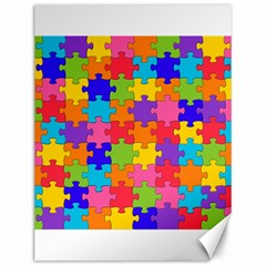 Funny Colorful Jigsaw Puzzle Canvas 12  X 16