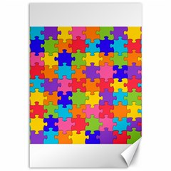 Funny Colorful Jigsaw Puzzle Canvas 12  X 18