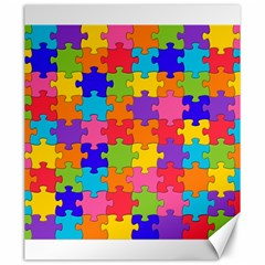 Funny Colorful Jigsaw Puzzle Canvas 20  X 24